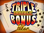 Play Triple Double Bonus Video Poker now!