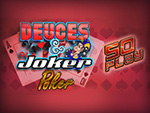 Play Deuces and Joker 50 Play Video Poker now!